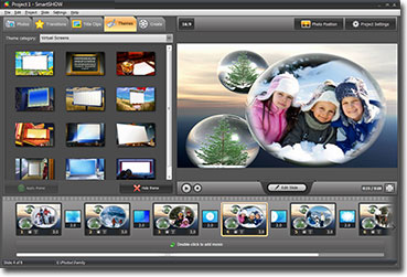 Share photos with Smart Slideshow Maker